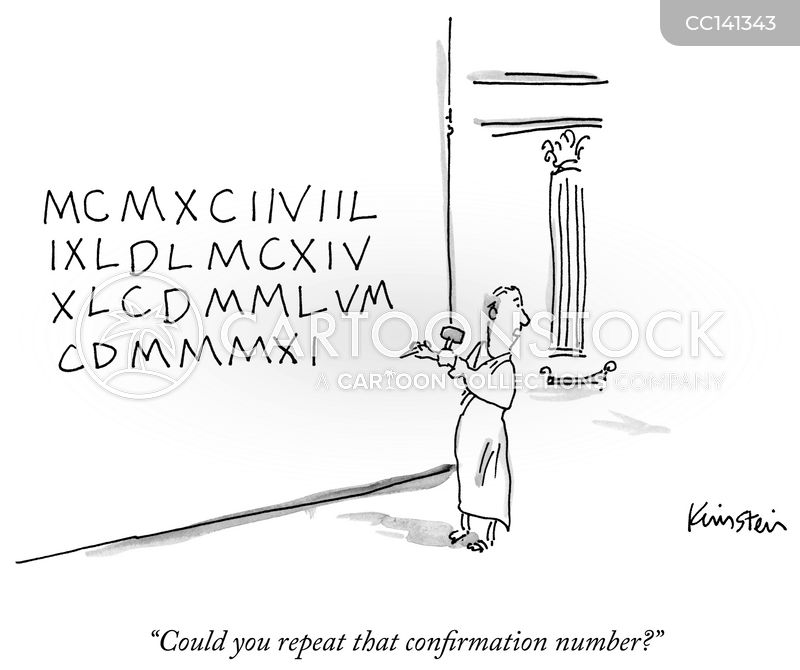 roman numerals cartoon