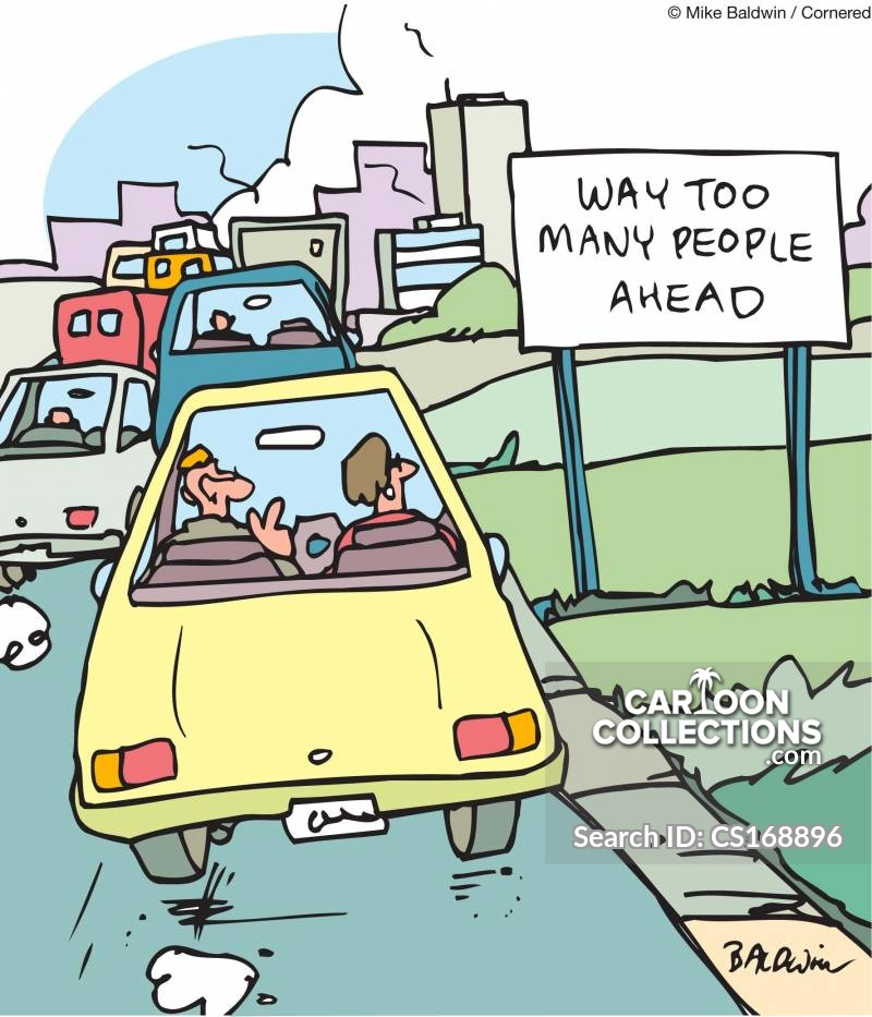 congested city cartoon