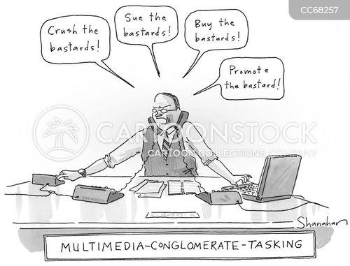 multi-tasking cartoon