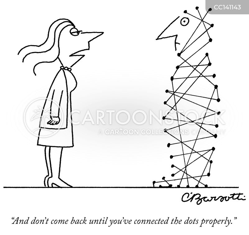 connect the dots cartoon