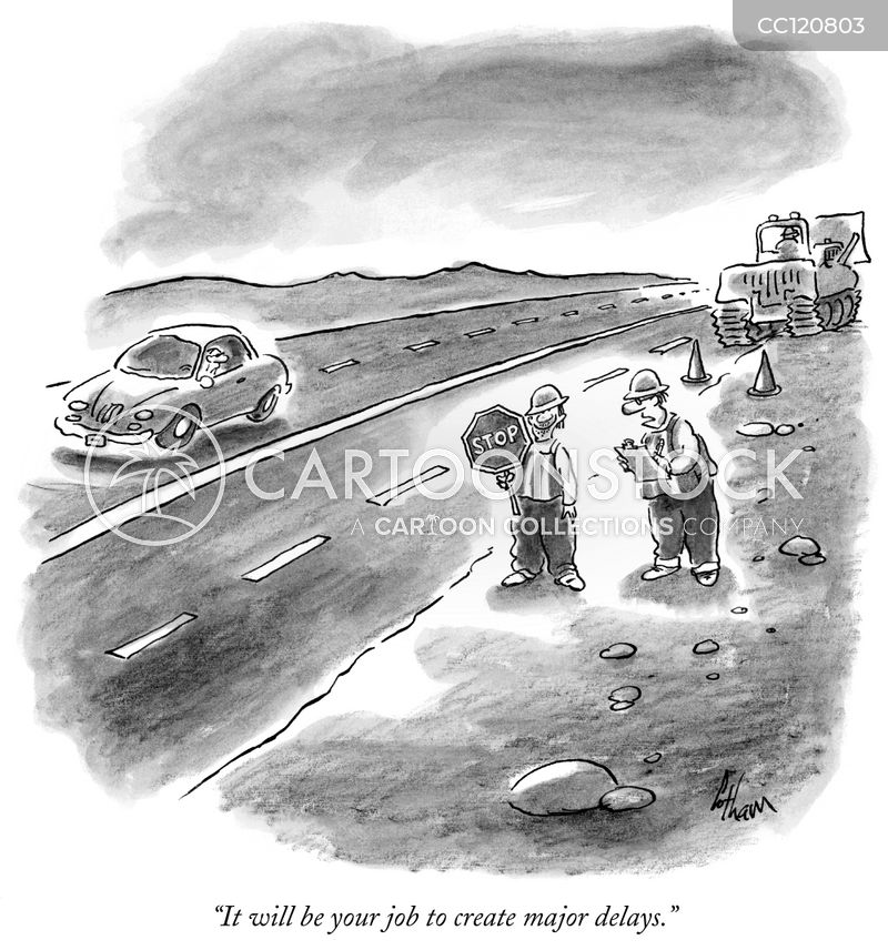 construction delay cartoon