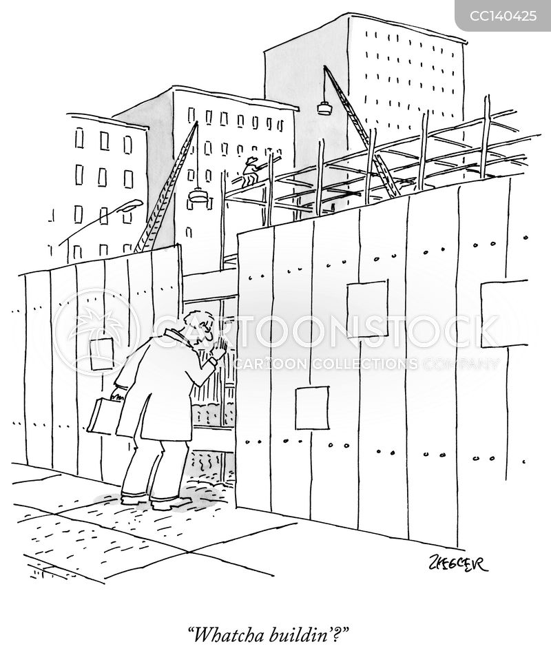 building cartoon