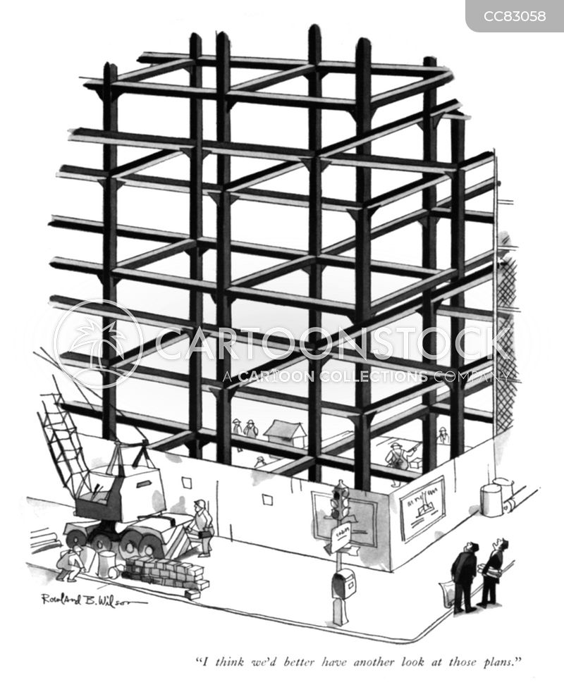 construction sites cartoon