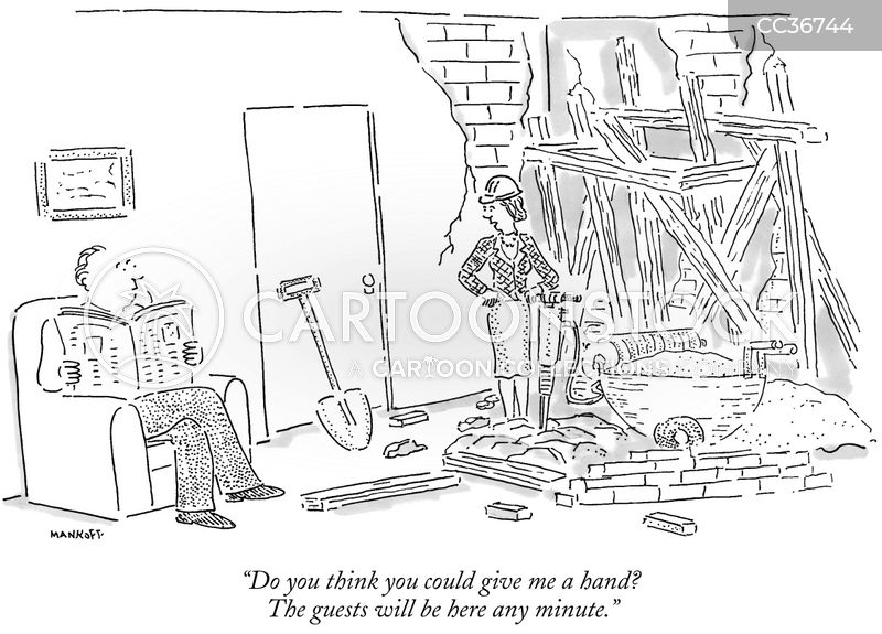 workmen cartoon
