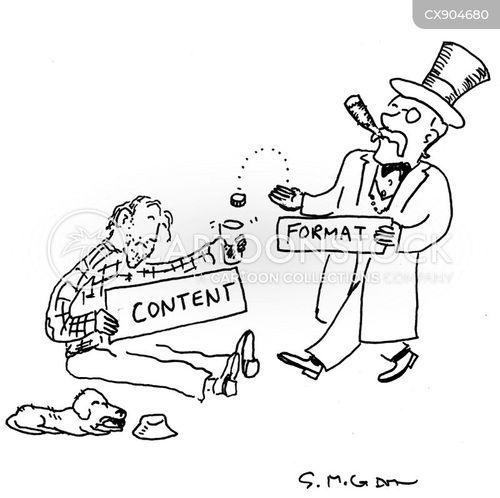 handouts cartoon