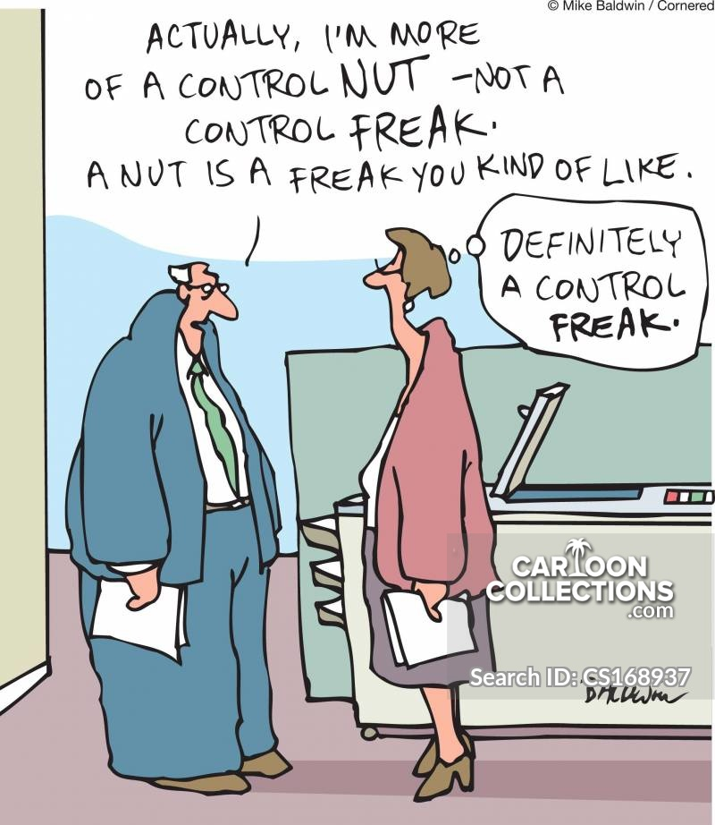 control nuts cartoon