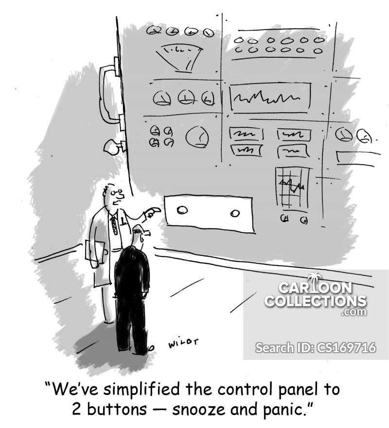 control panel cartoon