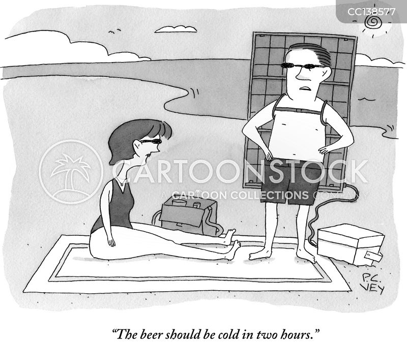 beach vacation cartoon
