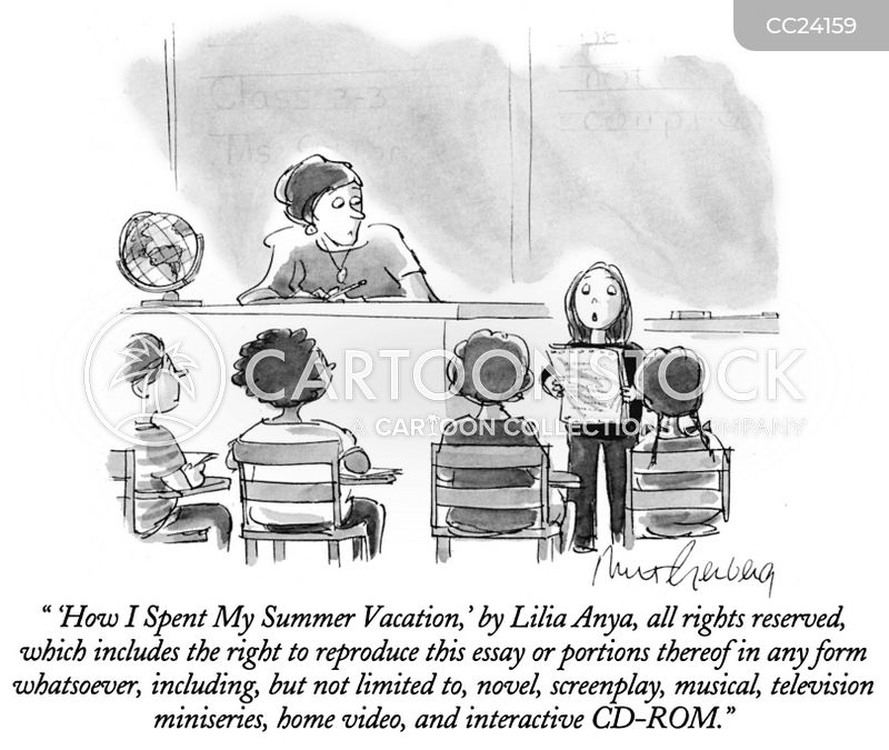 summer vacation cartoon