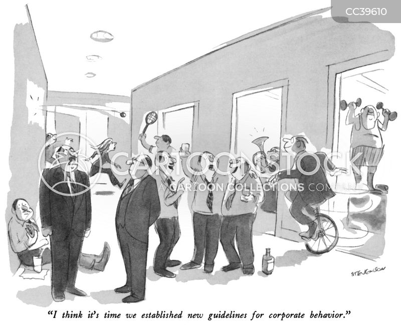 unprofessional behaviour cartoon