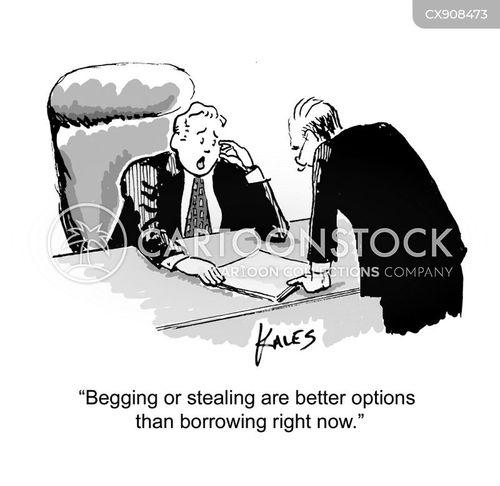 begged cartoon