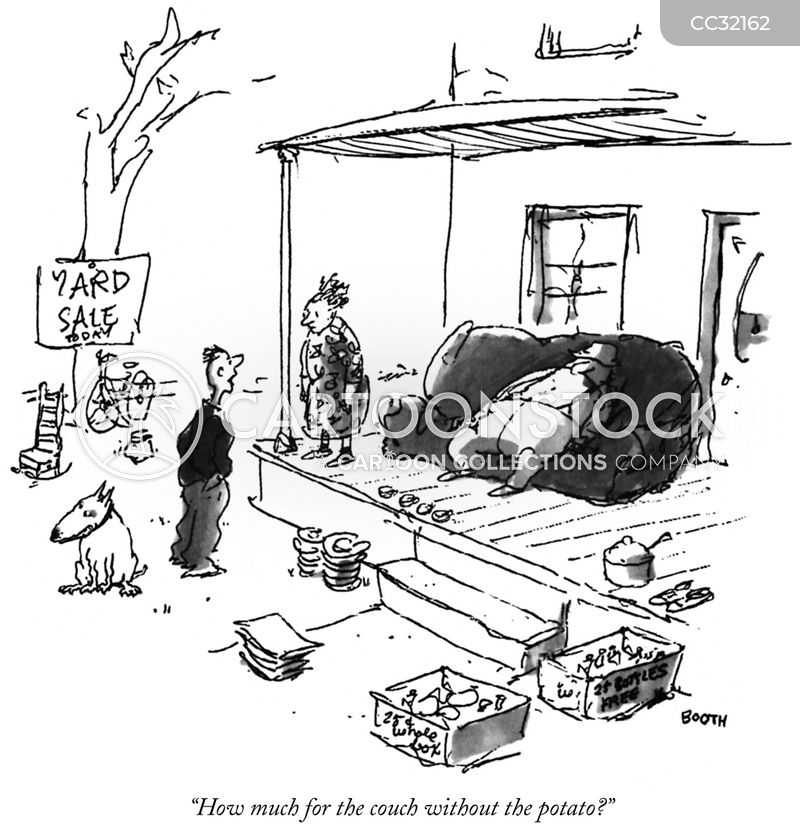 Junk Sale cartoon