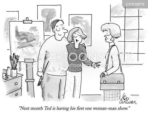one man show cartoon