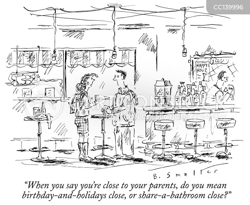 living with parents cartoon