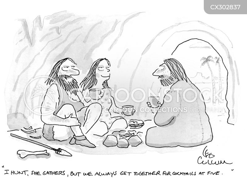 Hunter Gatherers cartoon