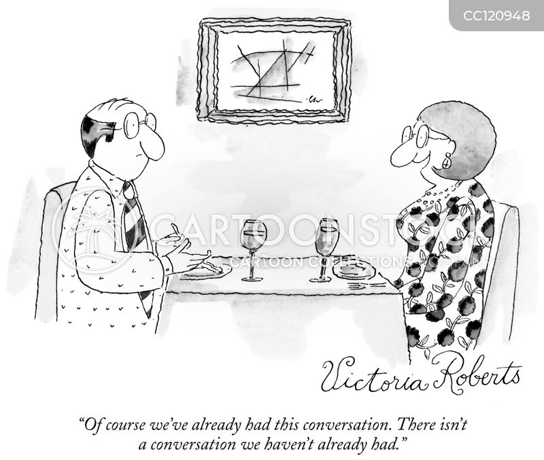 repeating conversations cartoon