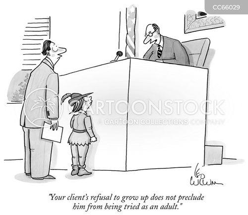 the legal system cartoon