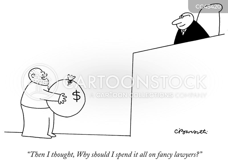 defense lawyer cartoon