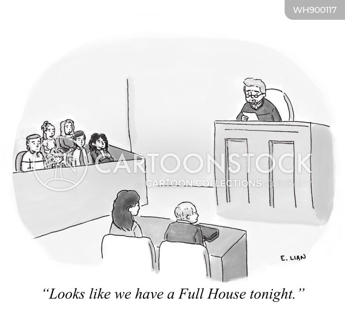 legal proceeding cartoon