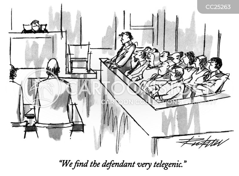 Jurors cartoon