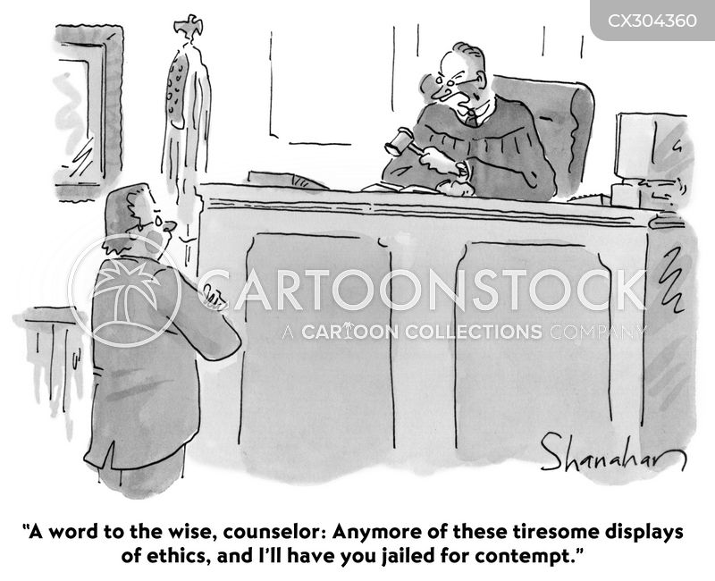 contempt of court cartoon
