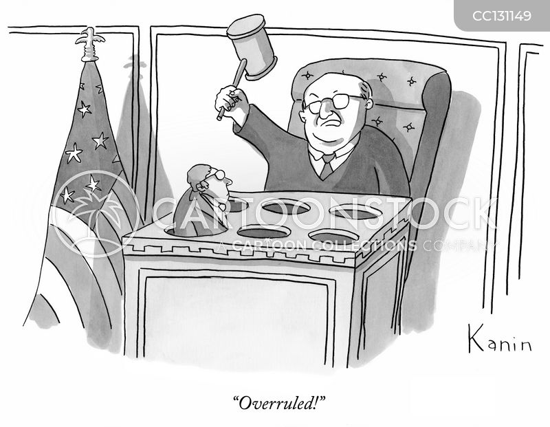 Overruled cartoon