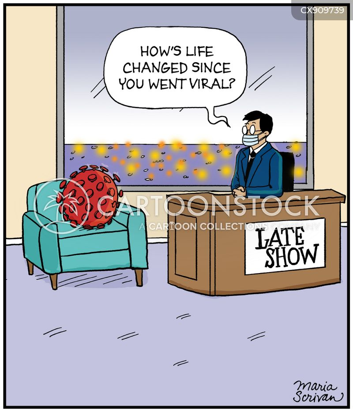 late night talk shows cartoon