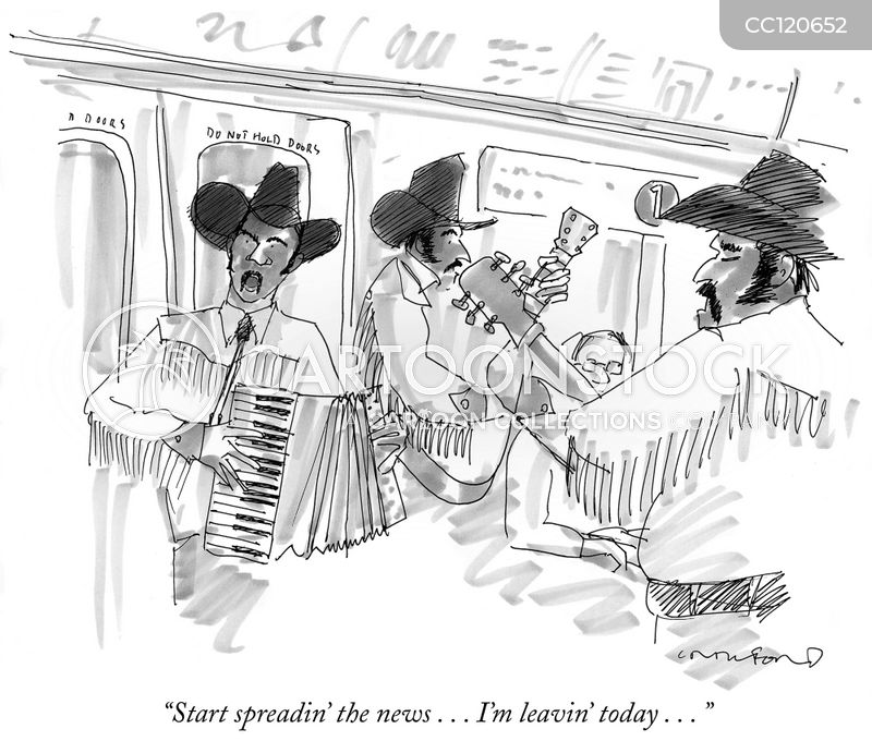commuter cartoon