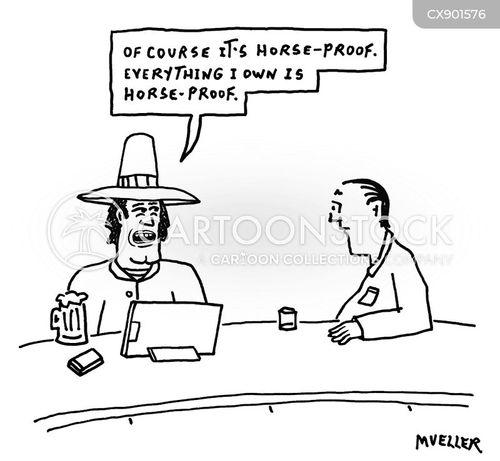 horse owner cartoon