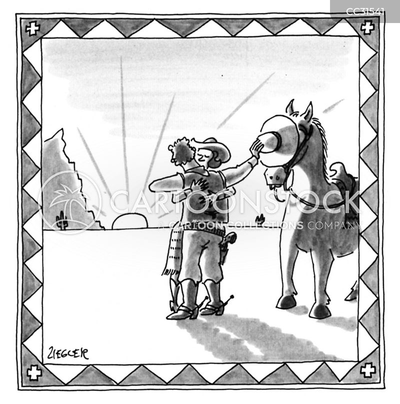 Wild West cartoon