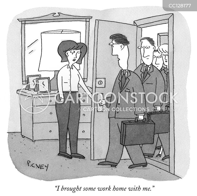 work from home cartoon