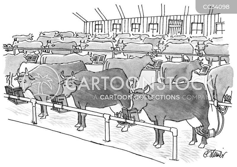 industrial farming cartoon