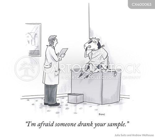 urine samples cartoon