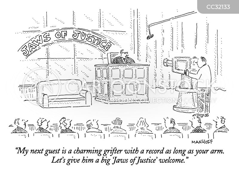 court rooms cartoon
