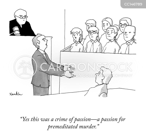 murder trial cartoon