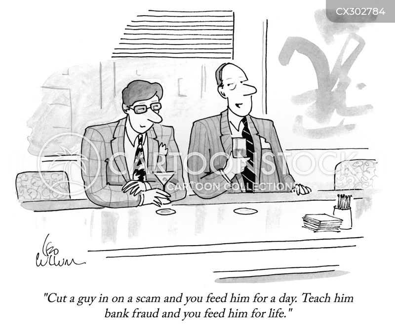 scam artist cartoon