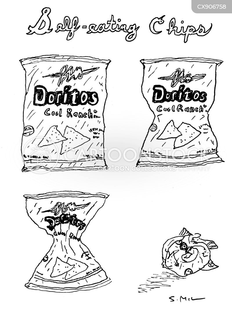 potato chips cartoon