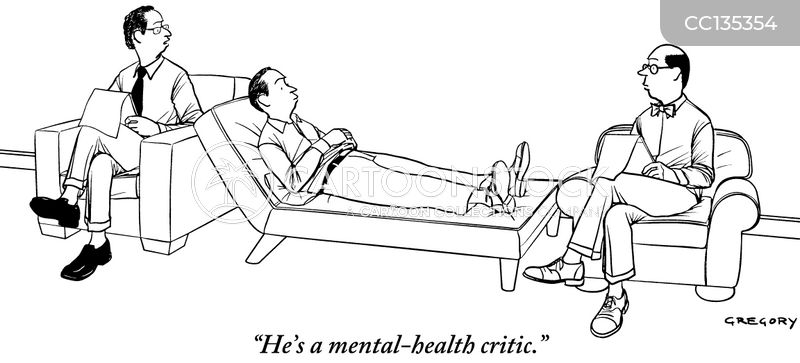 mental health problems cartoon