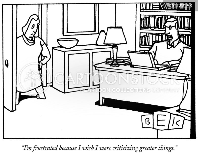 Writing Reviews cartoon