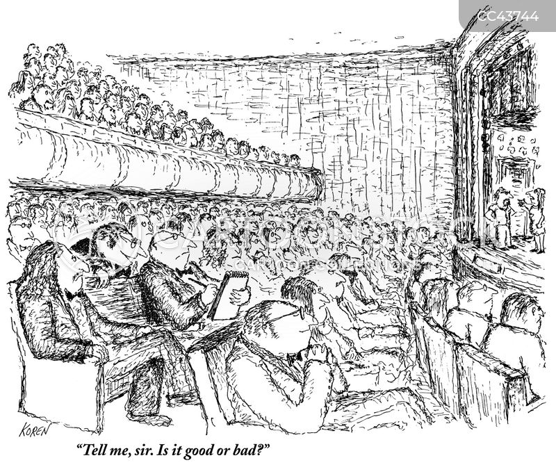 theatre critics cartoon