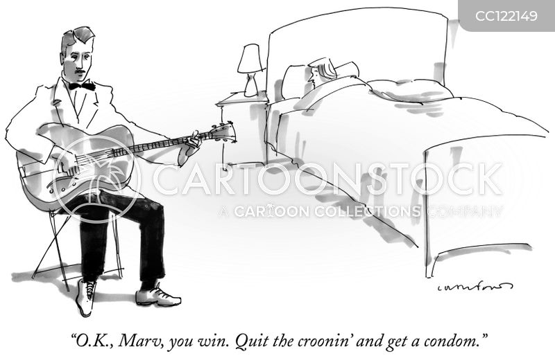 crooning cartoon