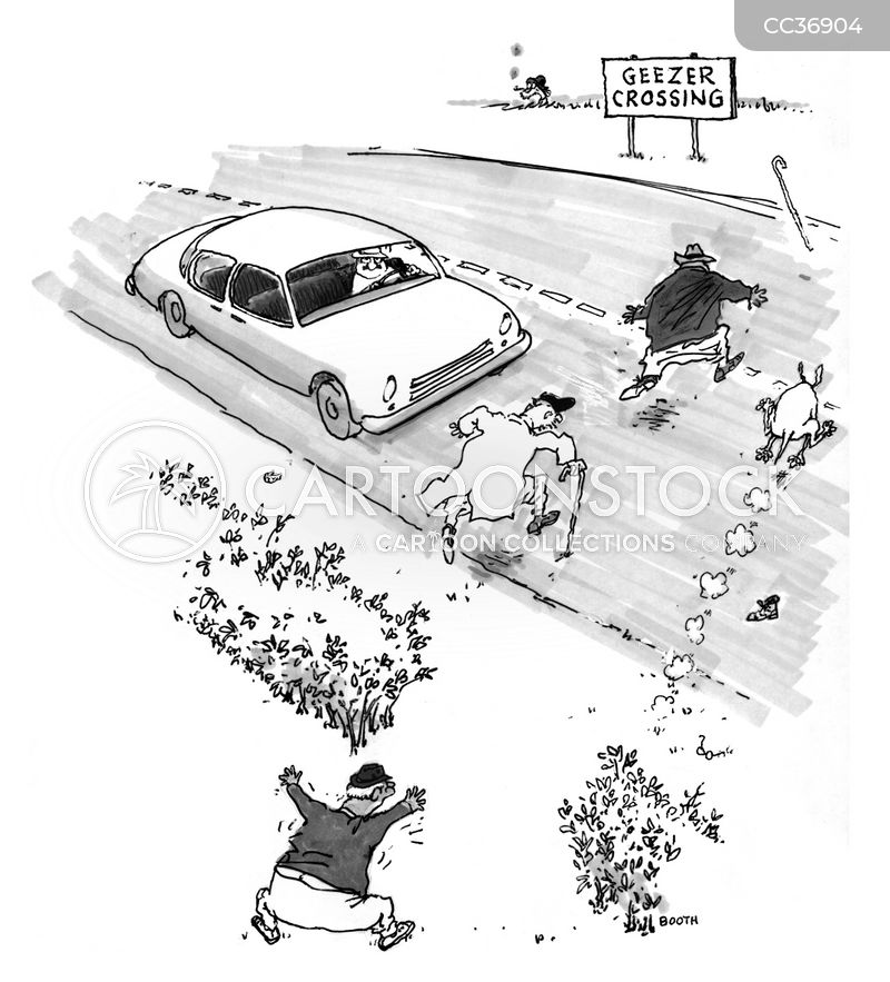road hazard cartoon