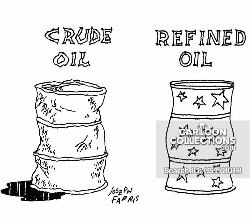 oil barrels cartoon