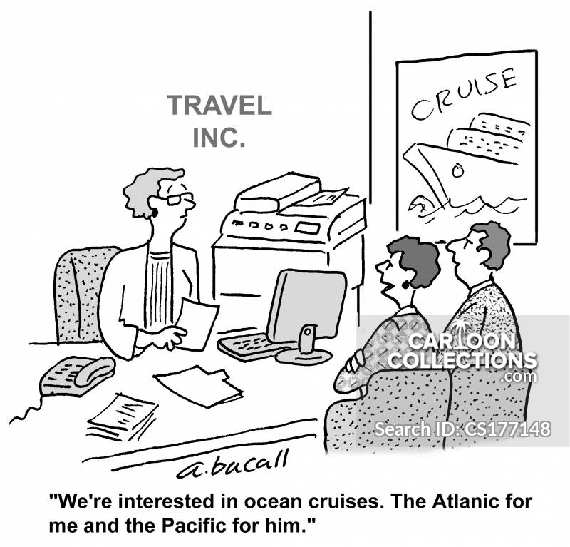 Ocean Cruises cartoon