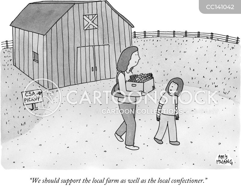 community supported agriculture cartoon