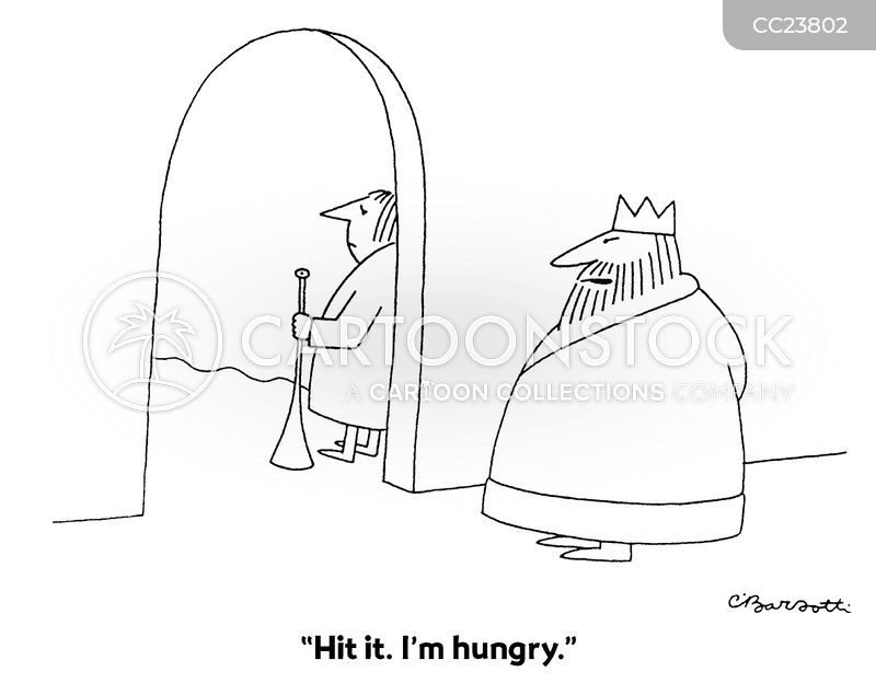 feasting cartoon