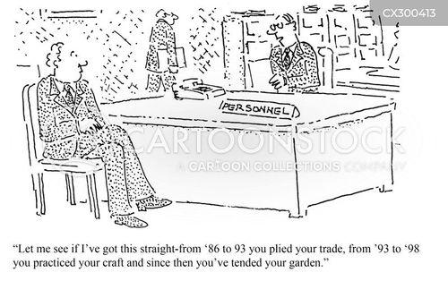 work history cartoon