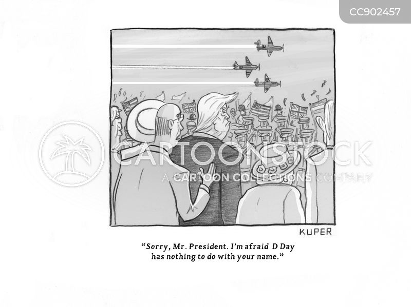 d day cartoon