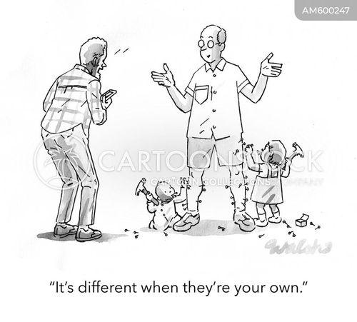 hammering cartoon