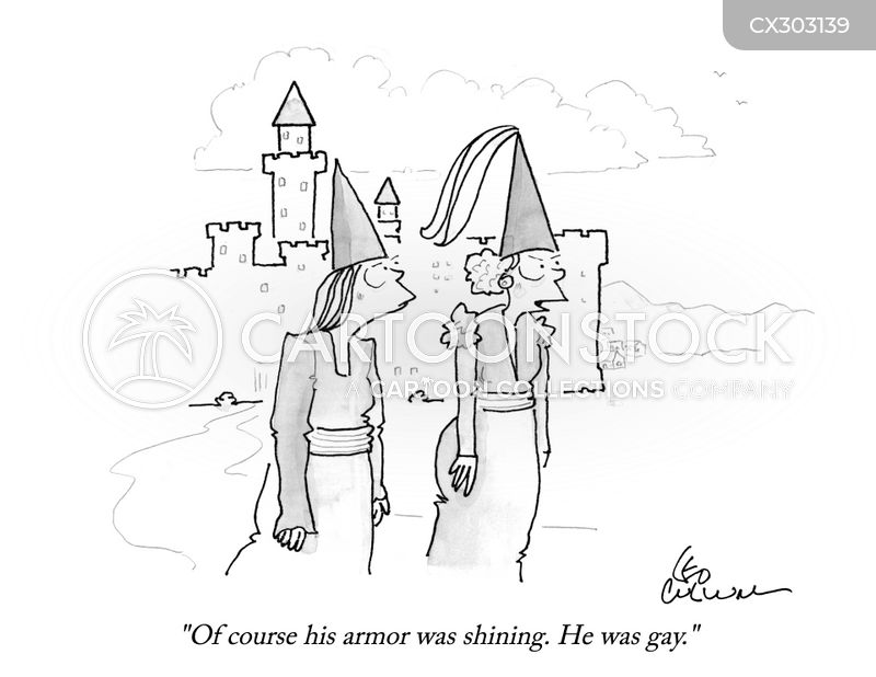 knight in shining armour cartoon